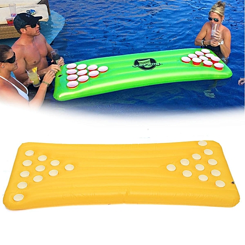 Generic Pong H2O Inflatable Beer Pong Table - 22 Holes Floating Pool Party  Drinking Game Yellow   Best Price  9b0748e10