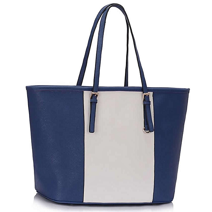 Generic Blue and White Women s Large Tote Bag   Best Price  2453118c71