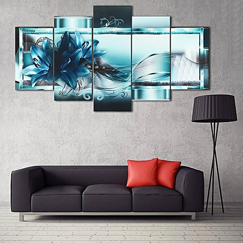 afc4d25b0df6 Generic Fashion Home Decor Canvas Print Modern Abstract Flower Floral Art  Painting Living Room Decoration