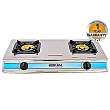 BGC MT2S - 2 BURNER GAS STOVE STAINLESS STEEL - Silver