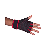 Red Gym Body Building Training Fitness Gloves Sports Weight Lifting Gloves Exercise Cycling For Men And Women Fitness Sports Half Finger Gloves GYM Weight Lifting Wraps Body Building Workout Exercis