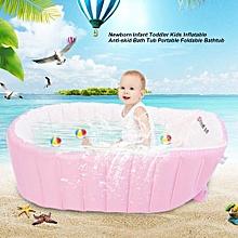 Newborn Infant Toddler Kids Inflatable Anti-skid Bath Tub Portable Foldable Bathtub
