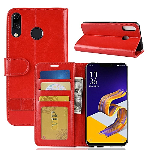 new arrival eeb4c 5ba26 PU Leather Wallet Case Cover for Asus Zenfone 5 ZE620KL