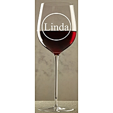 Branded 'Linda' Customized Champagne Cocktail Wine & Whiskey Glass