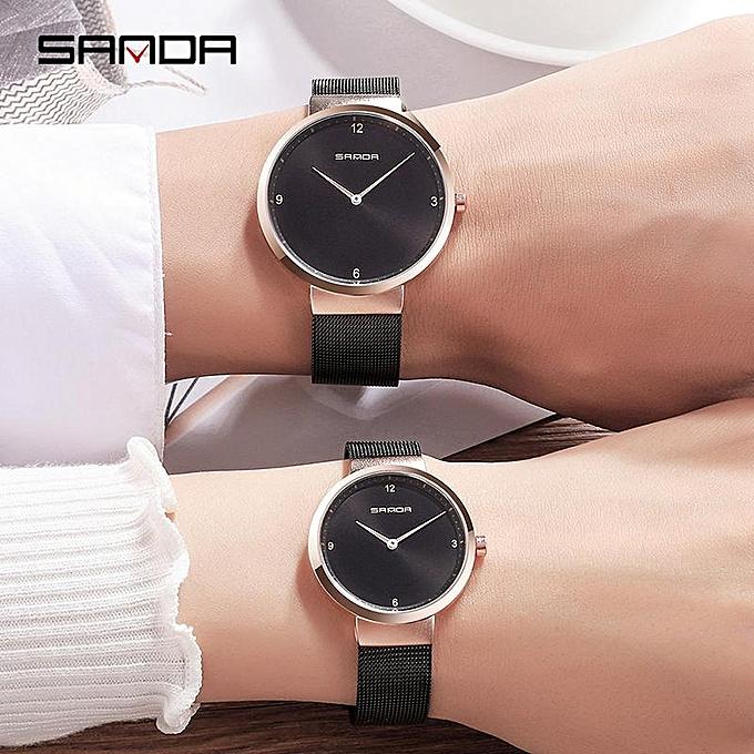 f1d0ed5b06457b Couple Watchs Lovers Watches For Men Women Waterproof Quartz Couple Simple  Watch Stainless Steel Bracelet Clock