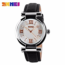 2017 SKMEI 9075 Ladies's Fashion Elegant Red Genuine Leather Strap Watch