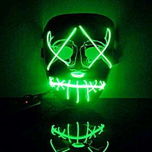 The Purge Movie EL Wire DJ Party Festival Halloween Costume LED Mask HQ New GN