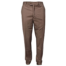Official Trouser Pant - Brown - Slim Fit