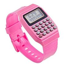 Children Silicone Date Multi-Purpose Kids Calculator Wrist Watch(Orange)