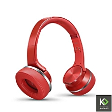 "Bluetooth """"SPEAKER"" Headphones with FM Radio - Red"