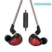 (Free shipping)KZ AS10 In Ear Headphone Moving Iron 5BA 5 Balanced Headset w/2Pin Cable(Neutral)-With Microphone  XBQ-A