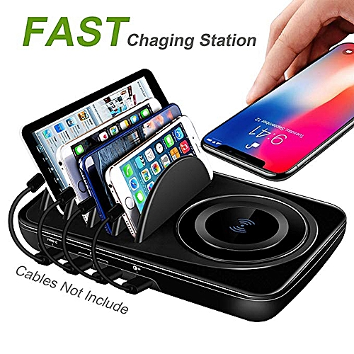 buy popular 6937a 638ba USB Charging Station Dock Quick Charge 3.0 Type-C for Multiple Devices iPad  Desktop Charging Stand Organizer Multi Smart Hub Fast Wireless Charger for  ...