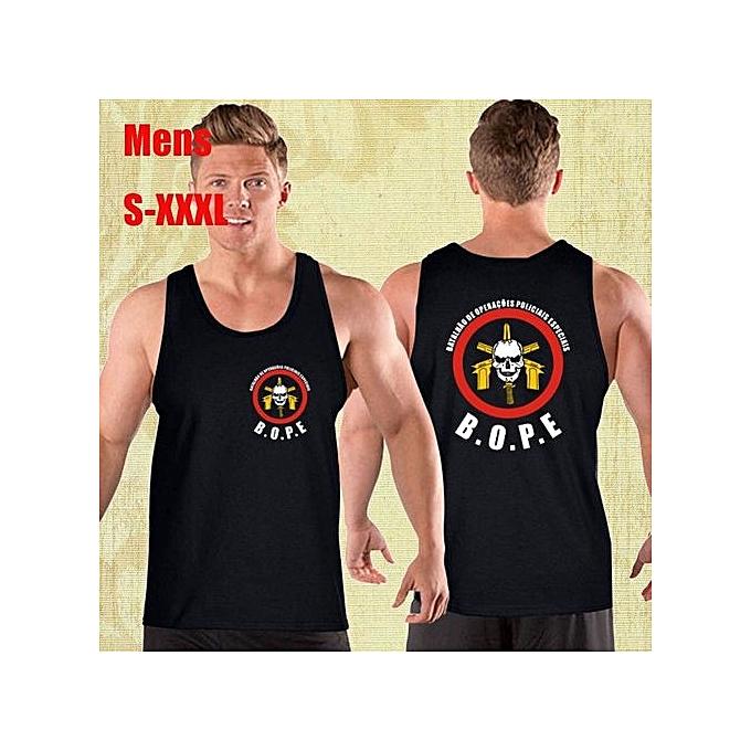 79669f4e0 Fashion Bope Tropa De Elite Sniper Police Logo Mens Tank Top Shirt Cotton  Printed Short Sleeves