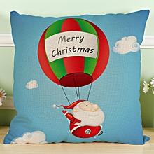 New Christmas Santa Cotton Linen Pillow Case Sofa Cushion Cover Home Decor B