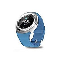 Y1 - Smart Watch with M-pesa menu,Bluetooth 3.0 280mAh - Blue