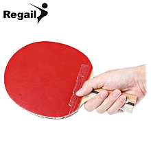 D - 007X Table Tennis Ping Pong Racket Single Long Handle Paddle Bat - Red