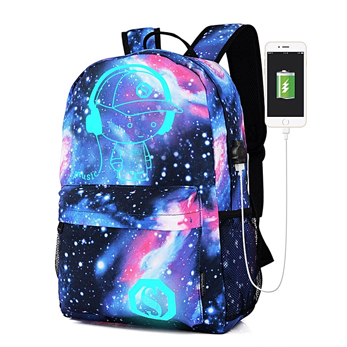 guoaivo Galaxy School Bag Backpack Collection Canvas USB Charger for Teen  Girls Kids fbb2122608