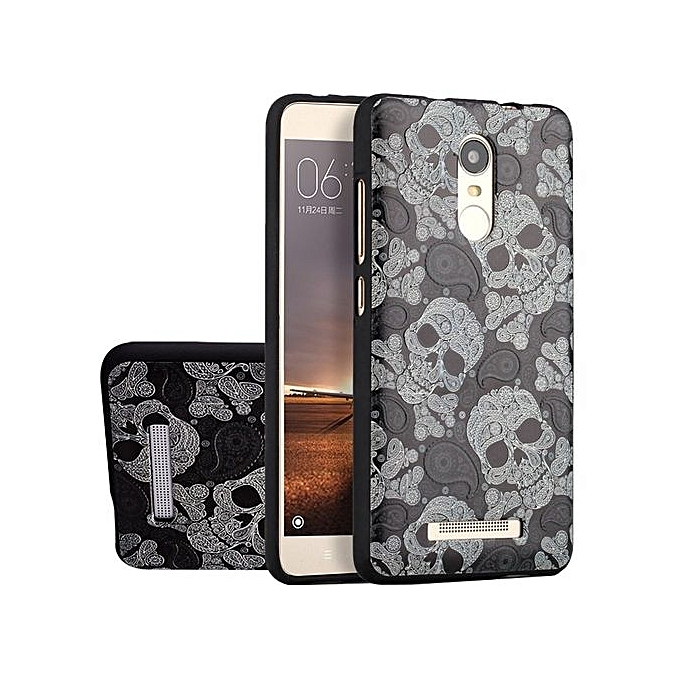 Buy UNIVERSAL RUILEAN Soft TPU Case For Xiaomi Redmi Note 3 Skull 3D Embossed Painting Series