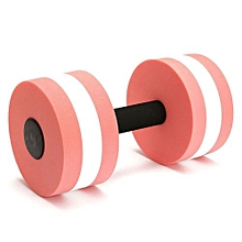 Water Aerobics Dumbbell EVA Foam Barbell Fitness Swimming Pool Exercise Pink