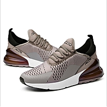korean running shoes plus size for Men's mesh cloth synthetic leather air cushion breathable sports sneaker