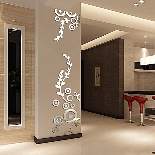 Buy Generic Creative Circle Ring Acrylic Mirror Wall Stickers 48D Mesmerizing 3D Home Interior Design Online Creative
