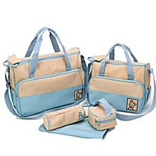 Shoulder Diaper Bag, Multi Pockets Waterproof Nappy Bag For Travel, Large Capacity and Stylish- Sky blue
