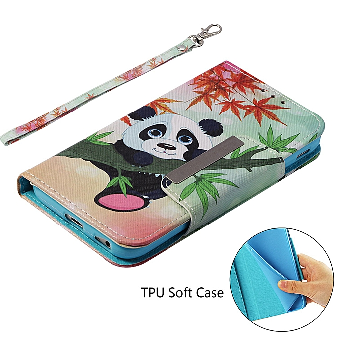 Galaxy J3 2017 J330 Case,Painted Leather Clamshell Wallet Protective Cover Ultra .