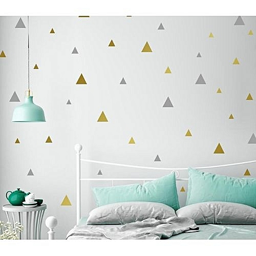 Generic Triangle Shape Self Adhesive Wall Stickers Waterproof Decals DIY Home  Room Decor