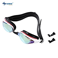 WAVE Professional Water Resistant Anti-fog Swimming Goggles Glasses Eyeglasses With Box
