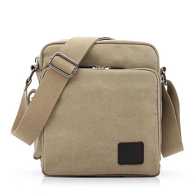 dcac29cd1233 Multi-functional Casual Messenger Bags Men Canvas Leisure Men Shoulder Bags  Vintage Small Crossbody Satchel Bag For Men 1092-1(1092-1 light khaki)