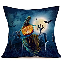 Happy Halloween Pillow Cases  Linen Sofa Cushion Cover Home Decor E