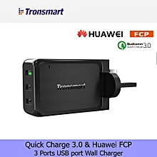 [Qualcomm Certifed] Tronsmart Quick Charge 3.0 3 Port Wall Charger S7 S6 iPhone Xiaomi LG Huawei QTG-W