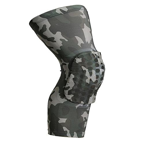 Honeycomb Pad Crashproof Antislip Basketball Leg Knee Long Sleeve Protector Gear Camouflage M
