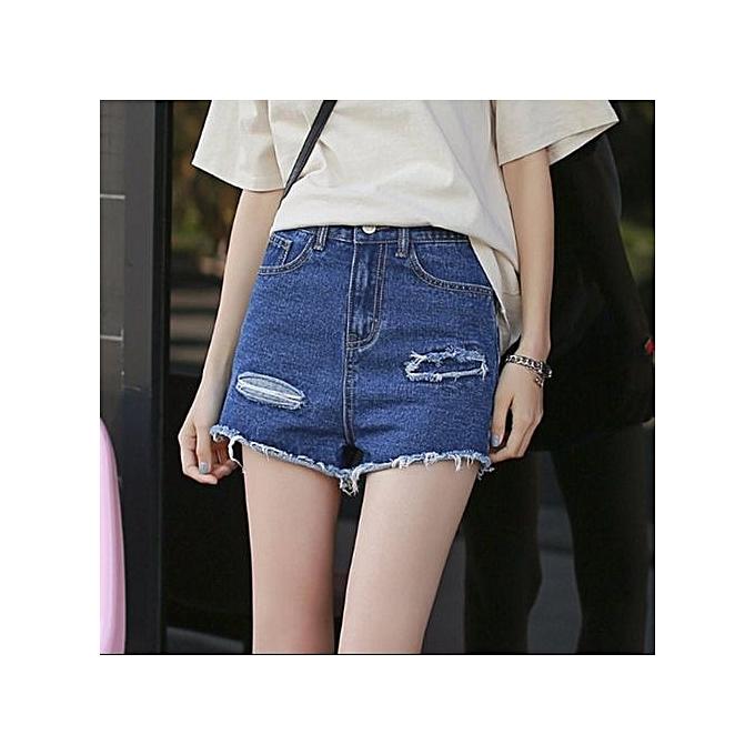 1d5e0686e5 Summer Hot High Waist Shorts 2017 Denim Shorts Girl Gods Love Simple Thin  Jeans Women's Casual