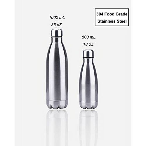 e5d64fe17b4 Fashion Stainless Steel Insulated Water Bottle 36 oz Jug – White ...