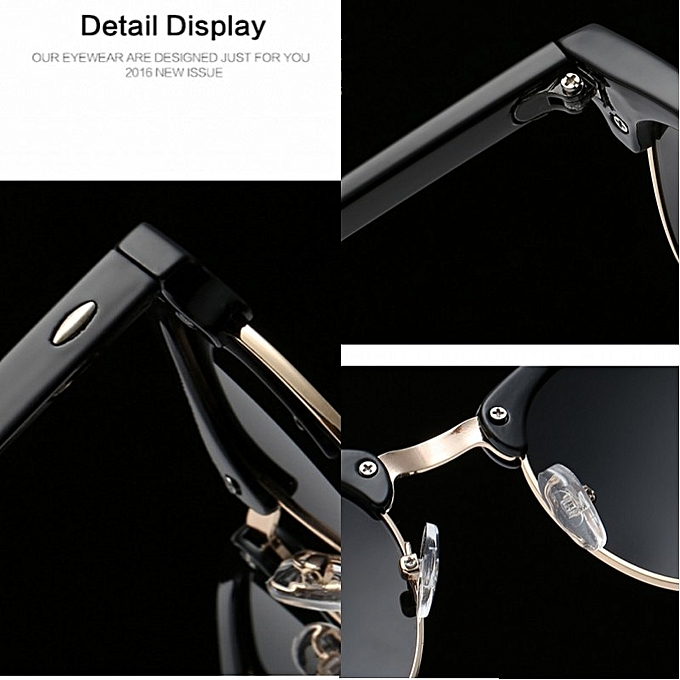 ecd89e99d ... Men UV400 Sunglasses Men Women Luxury Vintage Semi-Rimless Brand Designer  Fashion Mirror Shades For ...