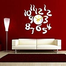 Home Roman Numerals Sticker DIY Mirror Wall Clock Wall Sticker-Golden