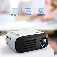 YG200 Mini Multimedia Projector TF card 1080P US - Black