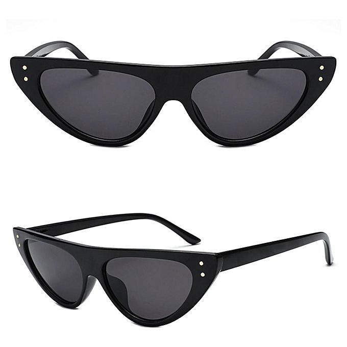 Buy Sunshine Women Retro Flat Top Sunglasses Plastic Frame Vintage ...