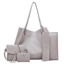 Women Handbag Fashion Four Sets Bag Women Leather Handbags Messenger Bag GY-Gray