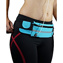 Running Belt Waist Pack - Water Resistant Runners Belt Fanny Pack for Hiking Fitness – Adjustable Running Pouch for All Kinds of Phones iPhone Android