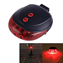 Bicycle LED Light Laser Night Mountain Bike Tail Light Taillight MTB Safety Warning Bicycle Rear Light Lamp Bycicle Light(Red)