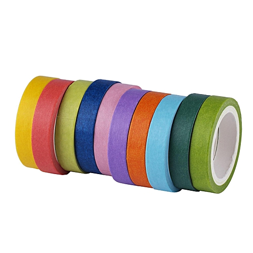 Diy Decorative Adhesive Stickers Paper Rainbow Tape Stationery School Gift Mixed Colors