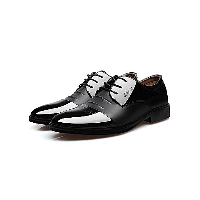 Men's Shoes Sporting Plus Size 8-13 New Large Size Mens Shoes Genuine Leather Lace Up Pointed Toe Formal Dress Shoes Man Office Shoes Size 47 Jade White Formal Shoes