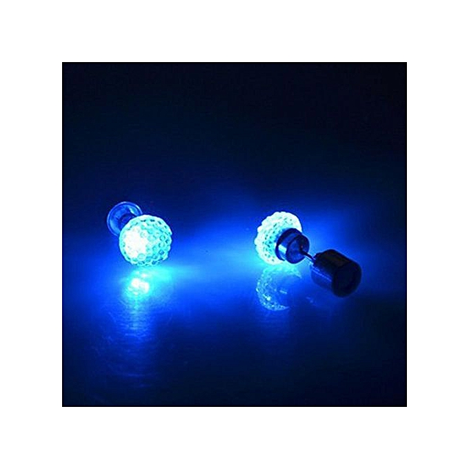 Kter 9 Colors Fashion Uni Led Glowing Earrings Pentagram Luminous Studs Colorful Flashing Jewelry Accessories Charm Cute Gifts