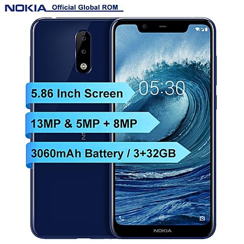 X5 5.86-inch (3GB, 32GB ROM) Android 8.1, 3060mAh, 13MP+8MP, Dual Sim 4G LTE Smartphone - Blue