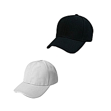 b2a874f33dd03d Two pcs Men's Women's plain Cap Adjustable Baseball
