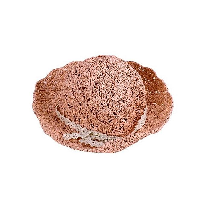 Eissely Girl Handcraft Bucket Hat Soft Lace Straw Hat Women Sun Hat ... 95623c9acc0d