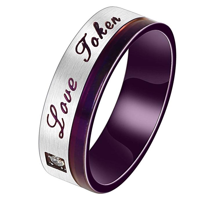 Men Fashion Purple High End Love Rings Clic Anium Steel Wedding Us