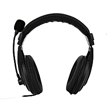 Headset Wired Stereo Micphone Gaming Headphone Gaming Headset Earphone With Mic - Black